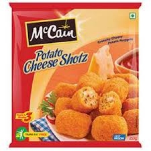 MCCAIN POTATO CHEESE SHOTS 250G