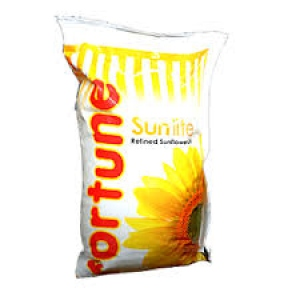 FORTUNE SUNFLOWER OIL POUCH 1LTR