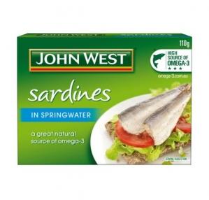 JOHN WEST SARDINES IN SPRING W 110G