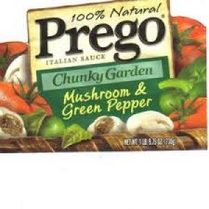 PREGO CHUNKY GARDEN MUSHROOM & GREEN PEPP