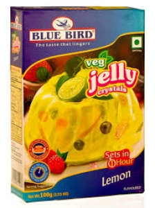 BLUE BIRD VEG JELLY CRYSTALS LEMON 100G