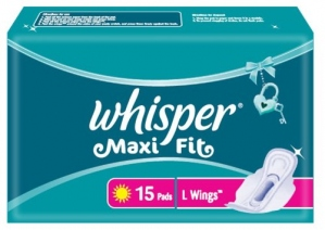 WHISPER MAXI FIT L WINGS 15 PADS