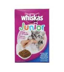 WHISKAS JUNIOR OCEAN FISH WITH MILK 450G