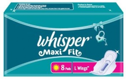 WHISPER MAXI FIT L 8 PADS