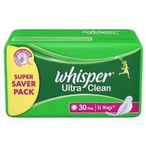 WHISPER ULTRA CLEAN XL WINGS 30 PADS