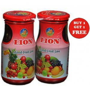 LION MIXED FRUIT/PINEAPPLE JAM 500G 1 + 1