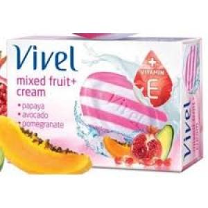 VIVEL MIXED FRUIT + CREAM BATHING BAR 100G