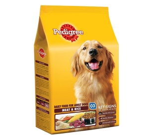 PEDIGREE ADULT MEAT & RICE 3KG