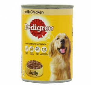 PEDIGREE ADULT WITH CHICKEN IN JELLY TIN 400GM