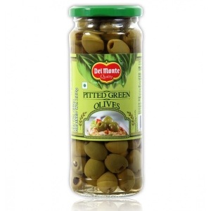 DEL MONTE PITTED GREEN OLIVES 450G