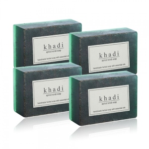 KHADI NATURAL APRICOT & ALMOND SCRUB SOAP 125G