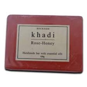 KHADI NATURAL ROSE & HONEY SOAP 125G