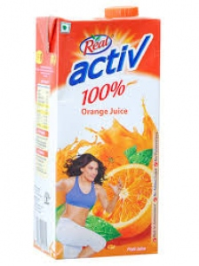 REAL ACTIVE 100% ORANGE JUICE 1LTR