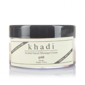 KHADI NATURAL GOLD MASSAGE CREAM 50G