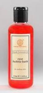 KHADI NATURAL ROSE BUBBLE BATH 210ML