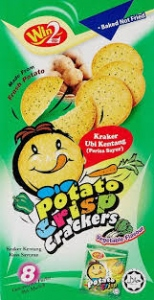 WIN2 POTATO CRISP CRACKERS VEG FLAV 160G