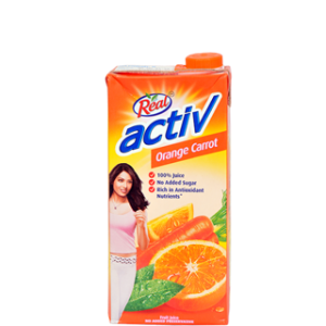 REAL ACTIVE ORANGE CARROT 1LTR