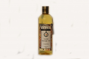 KHADI NATURAL WOODY SANDAL MASSAGE OIL 210ML