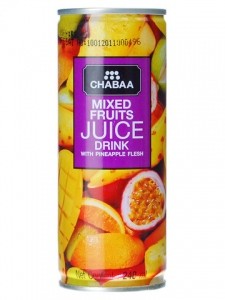 CHABAA MIXED FRUIT JUICE DRINK 240ML