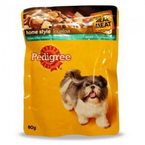 PEDIGREE CHICKEN & LIVER CHUNKS FOR ADULT 80G