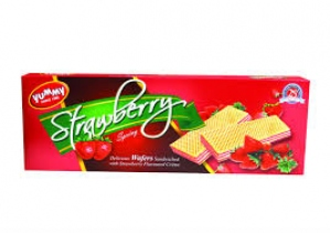 YUMMY GRANNY WAFERS STRAWBERRY FLAV. 55G