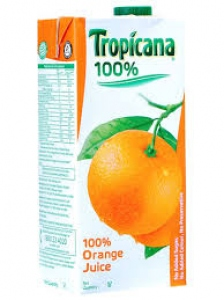 TROPICANA ORANGE JUICE 100% 1LTR