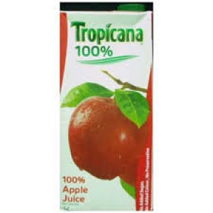 TROPICANA APPLE JUICE 100%  1LTR