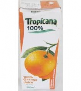 TROPICANA 100% ORANGE 200ML