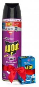 ALL OUT MULTI INSECT KILLER 600ML+ GLADE FREE
