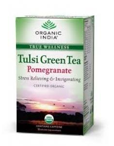 ORGANIC INDIA TULSI GREEN TEA POMEGRANATE 18 BAGS