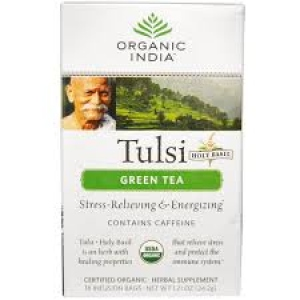 ORGANIC INDIA TULSI GREEN TEA 10 INFUSION BAGS
