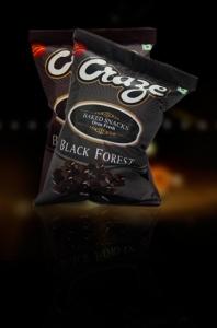 CRAZE BAKED SNACKS BLACK FOREST 38G