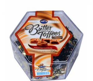 ARCOR BUTTER TOFFEES ASSORTED 250G