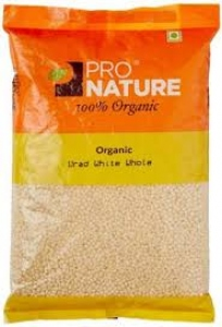 PRO NATURE ORGANIC URAD WHITE WHOLE 500G