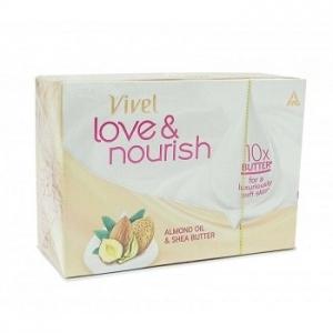VIVEL LOVE & NOURISH ALM & SHEA BUTTER SOAP 75G
