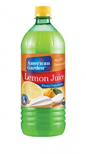 AMERICAN GARDEN LEMON JUICE 946ML