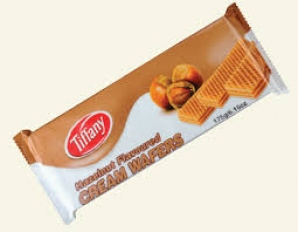 TIFFANY HAZELNUT FLAV CREAM WAFERS 75G