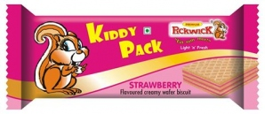 KIDDY PACK STRAWBERRY WAFER 15G