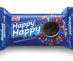 PARLE HAPPY HAPPY CHOC SANDWICH BISCUITS 60G