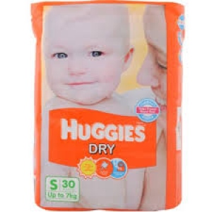 HUGGIES DRY S(UPTO 7 KG) 30 DIAPERS