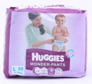 HUGGIES WONDER-PANTS L(9-14KG) 20 PANTS