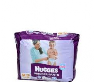 HUGGIES WONDER-PANTS M (7-12KG) 20 PANTS