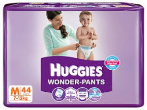 HUGGIES WONDER-PANTS M(7-12KG) 44 PANTS