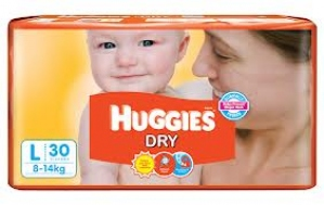 HUGGIES DRY L(8-14KG) 30 DIAPERS
