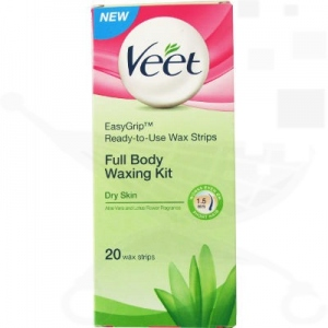 VEET WAXING KIT DRY SKIN 20 STRIPS