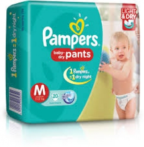 PAMPERS BABY-DRY PANTS M (7-12KG) 20 D