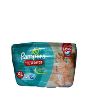 PAMPERS BABY-DRY PANTS XL(12+ KG) 32 PANT DIAPERS
