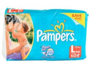 PAMPERS L ( 9-14KG)  60 D