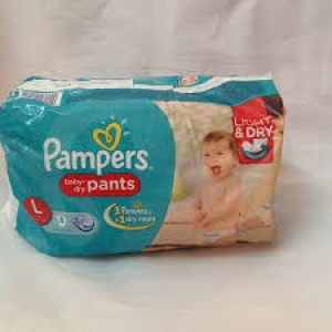 PAMPERS BABY-DRY PANTS L(9-14KG) 8PCS