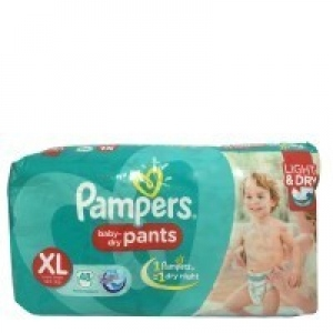 PAMPERS BABY-DRY PANTS XL(12+ KG) 48 PANT DIAPERS